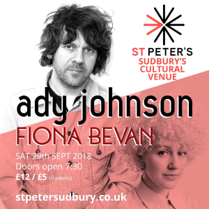St Peter's Presents... Ady Johnson and Fiona Bevan