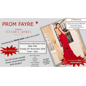 Join us in Northampton for an afternoon of all things PROM!!