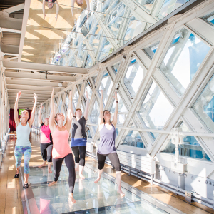 Yoga in the Walkways at Tower Bridge