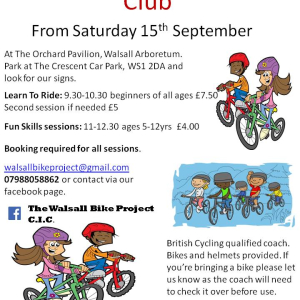 Saturday kids cycling club