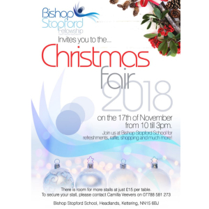 Bishop Stopford Christmas Fair 2018.