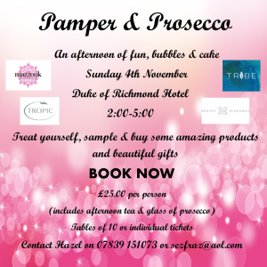 Pamper & Prosecco Afternoon
