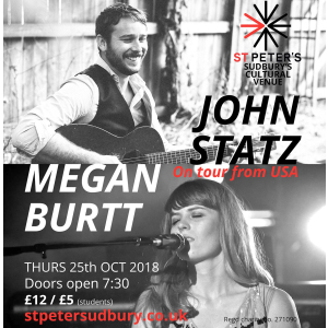 St Peter's Presents... JOHN STATZ & MEGAN BURTT