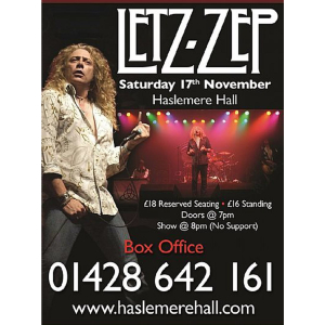 Letz Zep at Haslemere Hall