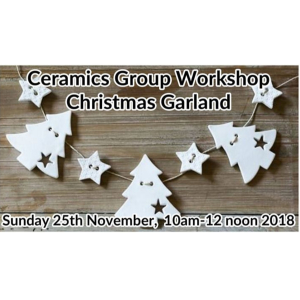 CHRISTMAS GARLAND - CERAMICS GROUP WORKSHOP AT KATHERINE FORTNUM CERAMICS