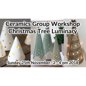 CHRISTMAS TREE LUMINARY - CERAMICS GROUP WORKSHOP AT KATHERINE FORTNUM CERAMICS