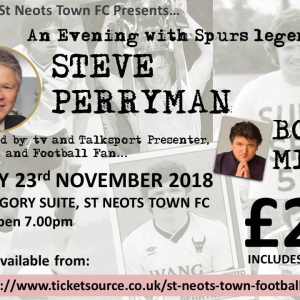 An Evening With Spurs Legend Steve Perryman - St. Neots