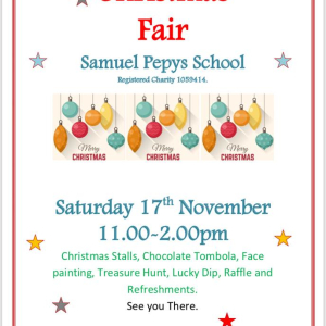 Christmas Fair at Samuel Pepys School - St Neots