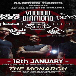 Camden Rocks All Dayer feat Voodoo Diamond and more at The Monarch