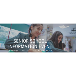 Senior School Information Event