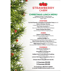 Christmas Lunch at The Strawberry Cabin