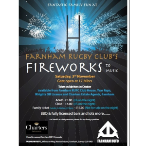 Farnham Rugby Union Football Club Fireworks 2018