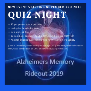 Alzheimer's Memory Charity Ride-Out Quiz Nite