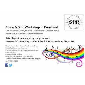 Come and Sing Workshop with St Cecilia Chorus in #Banstead @StCeciliachorus
