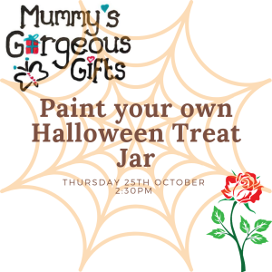 Paint your own Halloween jars