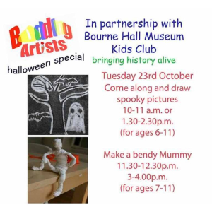Halloween (scary) art event with Bourne Hall Museum Kids Club and Budding Artists @Jopaintbrush1