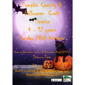 Pumpkin Carving & Halloween Crafting Sessions at Walsall Arboretum
