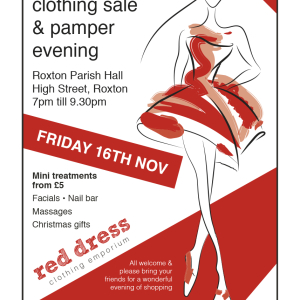 Pamper and designer clothing shopping night