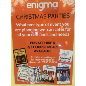 Christmas Parties at Enigma