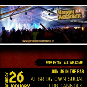 Happy Accident - LIVE at the Bridgtown Social Club