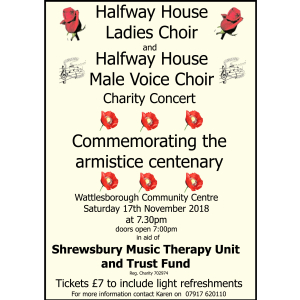 Charity concert to commemorate the armistice centenary