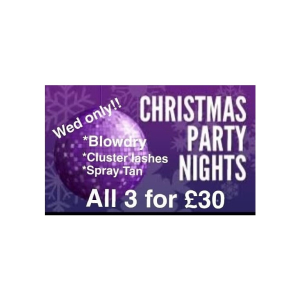 Christmas Party Nights at Chatabox Hair Design & Beauty Salon