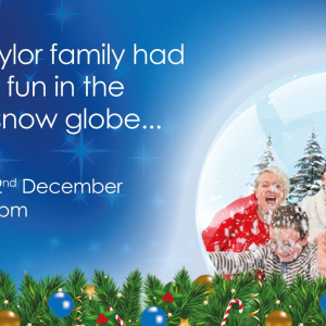 Giant Snow Globe at Castle Quay Shopping Centre