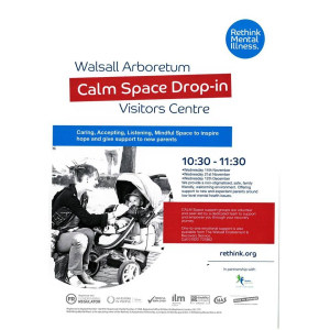 Calm Space Drop-In at the Visitors Centre at Walsall Arboretum