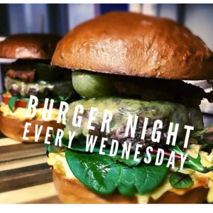 Wednesday Burger Night at The Green Dragon.