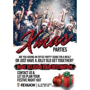 Christmas Party Events at Religion