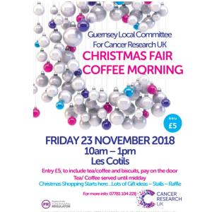 CANCER RESEARCH UK CHRISTMAS FAIR AND COFFEE MORNING