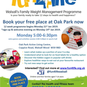 Fun4Life at Oak Park Active Living Centre. 12 week course