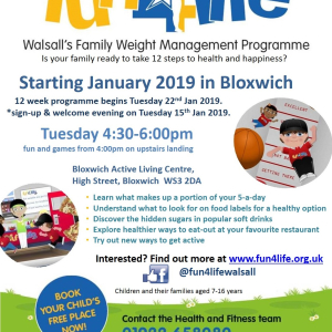 Fun4Life at Bloxwich Active Living Centre. 12 week course
