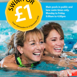 Swim for £1 with Walsall Leisure