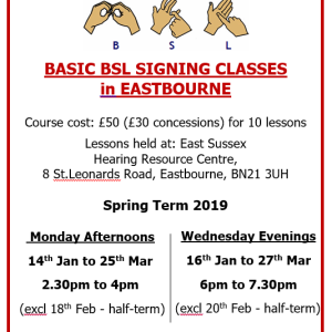 BSL Sign Language Class - Beginners/Basic