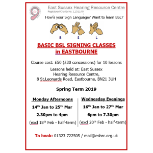 BSL Sign Language Classes - Beginners/Basic