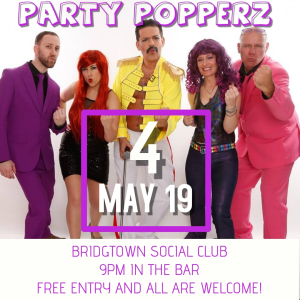 Party Popperz - LIVE at the Bridgtown Social Club