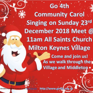 Go 4th Community Christmas Carol Singing