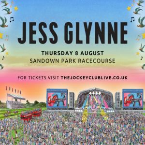Jess Glynne at Sandown Park Racecourse