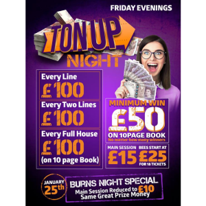 Friday Night is Ton Up Night at Apollo Bingo