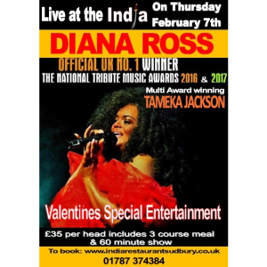 Live at India Presents A Tribute To Diana Ross this Valentine's Day