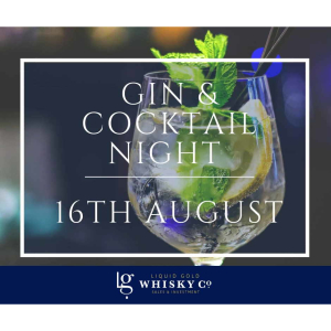 Gin & Cocktail Night with Liquid Gold in #Ashtead @LGWhiskyCo