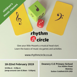 Rhythm Circle Holiday Club 18-22 February 2019