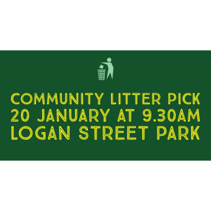 Community Litter Pick Up at the Logan Street Park