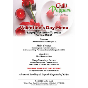 Valentine's Day at Chilli Peppers