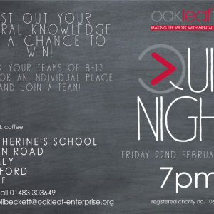 Oakleaf Annual Quiz Night