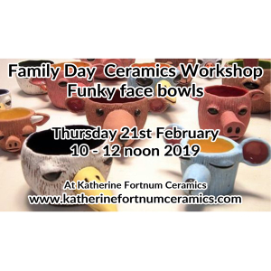 Funky face bowl family day ceramics workshop