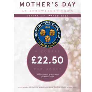 Celebrate Mother's Day at Shrewsbury Town FC