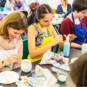 POTTERY PAINTING SOCIAL EVENING AT IRIS & DORA