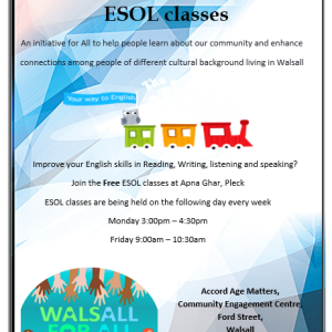"Aaina Community Hub invite you to ""Let's Talk About IT"" - FREE ESOL CLASSES"